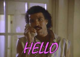 Hello Meme - lionel richie would like to say hello but with no music pop