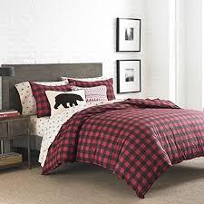 Plaid Bed Set Eddie Bauer 210705 Mountain Plaid Comforter Set King Scarlet