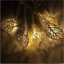 how to string lights on a tree led 16 ft metal tree leaf solar string lights for garden pathway