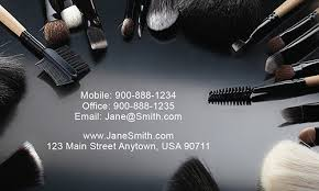 templates on creative stylish makeup artist business card design 601071