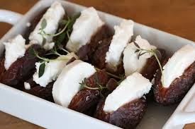 easy canapes nami nami a food easy canapés medjool dates with goat s cheese