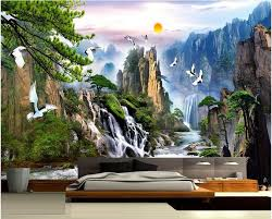Home Decor Wholesale China Wholesale China Landscape Photo Wallpaper Natural Scenery Mural