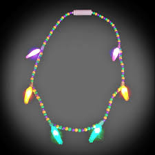 light necklace images Battery operated light up mardi gras voodoo necklace jpg
