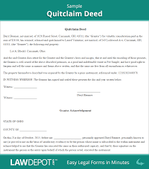 Power Of Attorney Form New Jersey by Quitclaim Deed Free Quitclaim Deed Form Us Lawdepot