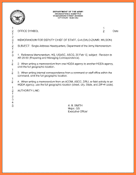 army memo template