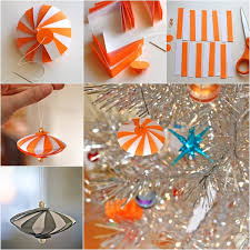 Diy Paper Christmas Decorations Wonderful Diy Easy Striped Paper Ornament
