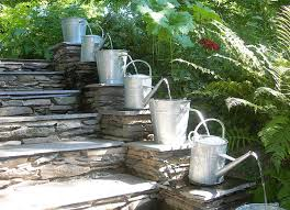 Garden Water Fountains Ideas Landscape Large Outdoor Water Fountains With Stoned Wall And