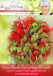 deco mesh u201d christmas door wreath ladybug wreaths by nancy