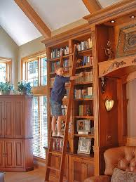 Bookcase Ladder And Rail by The Rolling Ladder Gallery