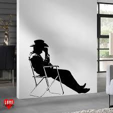 harry styles wall art sticker one direction life size silhouette 34 99 james dean deckchair silhouette large wall art sticker