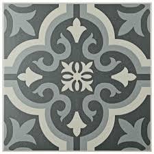 vintage halloween tile background merola tile braga black 7 3 4 in x 7 3 4 in ceramic floor and