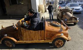 wooden car skilled carpenter upgrades his wooden e car cgtn africa