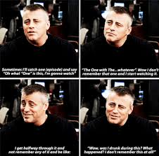 Friends Meme - matt leblanc on watching friends reruns meme guy