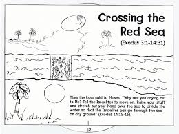 israelites crossing the red sea coloring page coloring pages ideas
