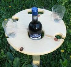 outdoor wine glass holder table wine table with a sturdy removable base easy to store with a