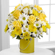 Flowers Delivered With Vase The Color Your Day With Sunshine Bouquet By Ftd Vase Included