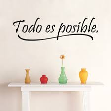 popular kids stickers inspirational buy cheap kids stickers everything is possible spanish inspiring quotes wall sticker home decor bedroom kids vinyl wall mural decal