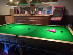 3 piece slate pool table price 3 4 size slate bed snooker table bar also available for extra cost