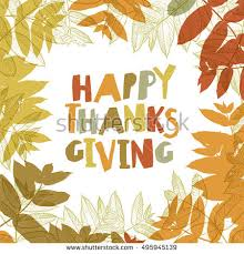 happy thanksgiving day design cover stock vector 495945139