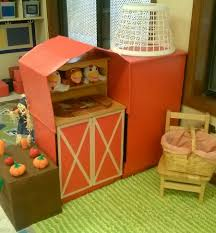 preschool kitchen furniture dramatic play farm i turned the kitchen set into a barn and silo