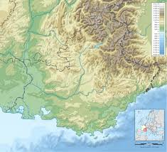 Provence Map File Provence Topographic Blank Map Svg Wikimedia Commons