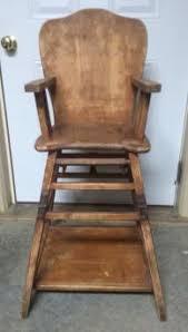 Antique Childrens Desk Heirloom Wooden High Chair Lovetoknow