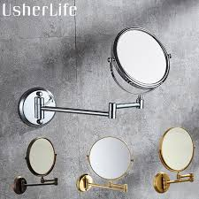 copper bathroom mirrors usherlife 8 dual makeup mirrors 1 1 and 1 3 magnifier copper