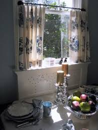 Gray Cafe Curtains Pleated Valances With Glass Bead Trim Gray Linen Cafe Curtains