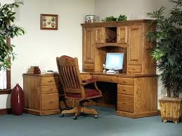 Solid Wood Corner Desk With Hutch Desk Solid Wood Executive Desk With Hutch Dark Wood Computer