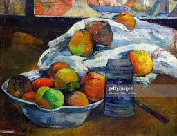 painting titled u0027bowl of fruit and tankard before a window u0027 by