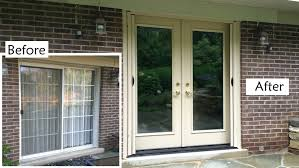 Replacement Patio Door Glass Before And After Of A Custom Made Provia Heritage Fiberglass