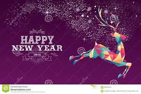 happy 2016 reindeer color triangle stock vector image