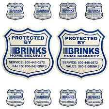 Hi Brinks Burglar Buster 2 Security Yard Sign Brinks Home Security Signs Decals Ebay