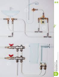 bathroom plumbing fixtures sketch stock photo image 70289934