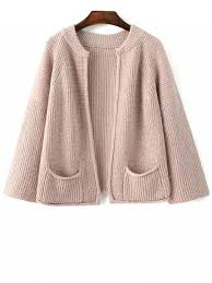 light pink cardigan sweater pockets round neck long sleeve cardigan light pink sweaters one