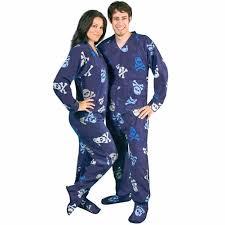 skulls fleece onesie footed pajamas with drop seat pajama city