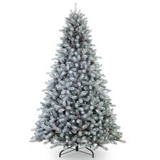prelit artificial trees frosted maine blue spruce pre