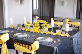 yellow and grey baby shower decorations yellow table decoration ideas home design architecture