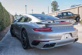 porsche wrapped 2017 porsche 911 turbo s with aero package gets extensive clear