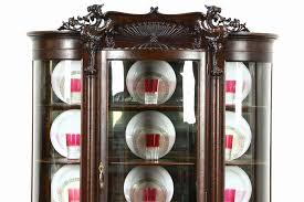 curved glass china cabinet antique curved glass china cabinet beautiful sold oak 1900 curved