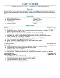 Resume Samples Restaurant by Pipefitter Resume Resume Example