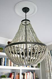 How To Make A Beaded Chandelier A New Beaded Chandelier From Thrifty Decor