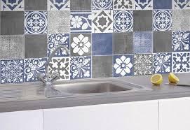 Tile Decals For Kitchen Backsplash Tile Stickers Vogue Blue Tiles Decals Tiles For Kitchen