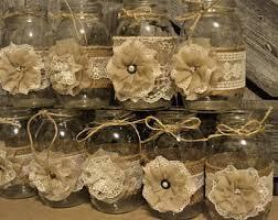 rustic wedding decorations 10 burlap jar sleeves diy wedding decorations rustic