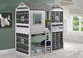 Amazoncom House Double Bunk Beds With Camouflage Tents Free - Double bunk beds