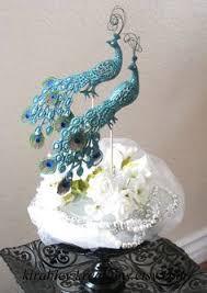 peacock wedding cake topper handmade peacock wedding cake topper by kikuike on etsy cake