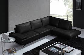 Black Leather Sofa Modern Black Reclining Sectional Black Leather Contemporary Sectional