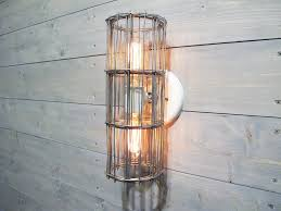 Galvanized Wall Sconce Industrial Wall Sconce Or Ceiling Light W Two Bulb Porcelain