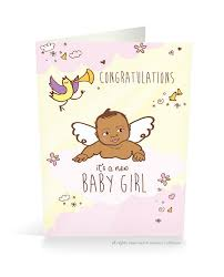 baby card congrats it s a new baby card girl proud kid marketplace