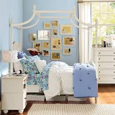bedroom design interesting furniture by pottery barn teens for chic pagoda bed in white by pottery barn teens on wooden floor matched with blue wall